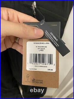 $200 The North Face Womens LARGE Waterproof Dry-Vent Insulated Snow Freedom Bib