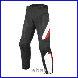 DAINESE Drake Air D-Dry Pants Motorcycle Trousers, Black/White/Red, size 50, UK