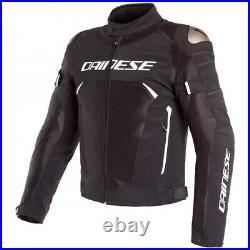 Dainese Dinamica Air D-Dry Black Black White Motorcycle Jacket New! Free S