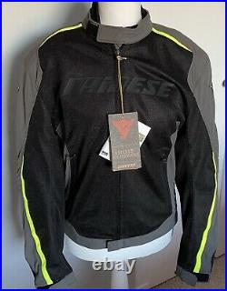 Dainese Hydra Flux D Dry Motorcycle Jacket Size 52 (M) Gull Grey/Black /Fluo