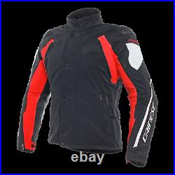 Dainese Rain Master D Dry Textile Motorcycle Jacket Mens Black / Grey / Red