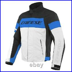 Dainese Saetta D-Dry Men's Biker Jacket Athletic Great Design With Blue