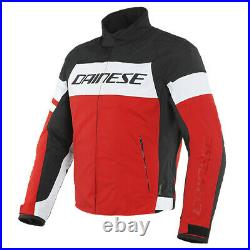 Dainese Saetta D-Dry Motorcycle Textile Waterproof Jacket Black / White / Red