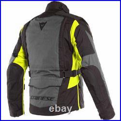 Dainese X-Tourer D-Dry Textile Motorcycle Jacket Waterproof Black Fluo Yellow