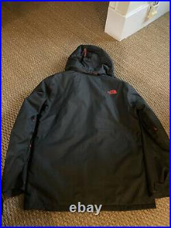 Mens North Face Dry-vent Ski Jacket. Grey With Red Trim