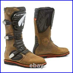 Motorcycle boots Forma Boulder Dry waterproof trials brown adv riding dual