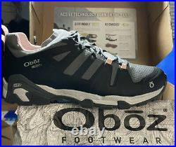 NEW in Box OBOZ Womens Arete Low B-Dry Hiking Trail Shoes/Boots Size 8 Raven