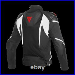 New Dainese Super Rider D-Dry Jacket Mens EU 48 Black/White/Red #201654592P75010