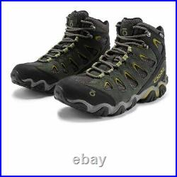 Oboz Mens Sawtooth Mid B-DRY Walking Shoes Green Grey Sports Outdoors Waterproof