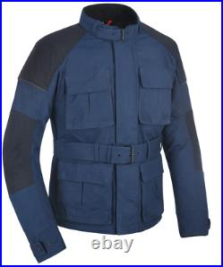 Oxford Heritage Tech 1.0 CE Dry Wax Cotton Mens Navy Motorbike Motorcycle Jacket