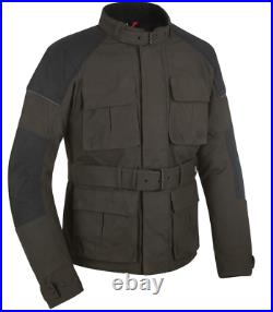 Oxford Heritage Tech 1.0 CE Dry Wax Cotton Mens Olive Motorcycle Jacket
