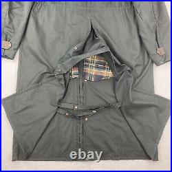 The Australian Outback Collection Men's XL Green Denim Western Duster Jacket EUC