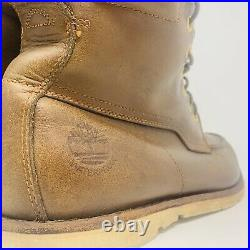 Timberland Size US 10.5 Timber Dry Green Rubber Leather Boots Quality Rare 10328