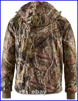 Waterproof Breathable Insulated Mens Guide Dry Hunt Parka with Removable Hood